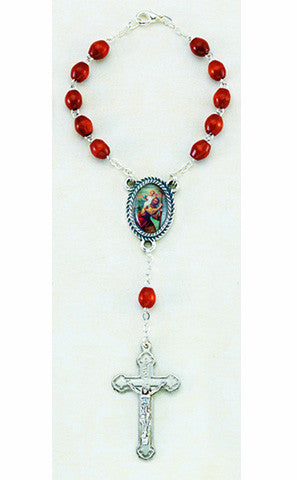 St. Christopher Decade Rosary Brown
