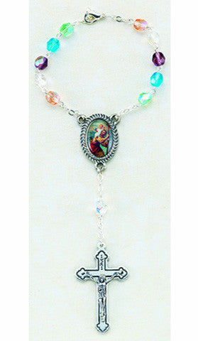 St. Christopher Decade Rosary Multi Color