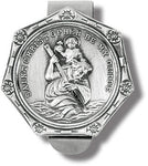 St. Christopher Be My Guide Visor Clip