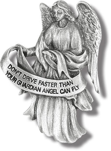 Don't Drive Faster Than Your Angel Can Fly Visor Clip