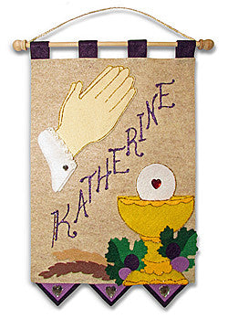 First Communion Banner Kit - Praying Hands (Purple)