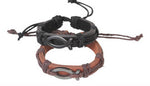Leather Bracelet with Fish
