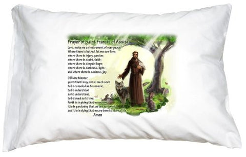 St. Francis of Assisi Prayer Pillowcase