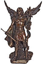 Archangel Gabriel, cold cast bronze, 9""
