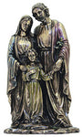 Holy Family, 1pc,lightly hand-painted cold cast bronze,10""