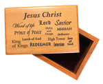 Jesus Christ Small Wood Box