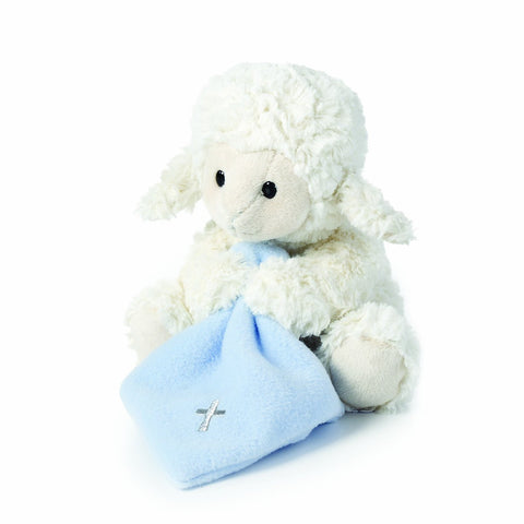 Jesus Loves Me Musical Plush Lamb with Blanket, Blue