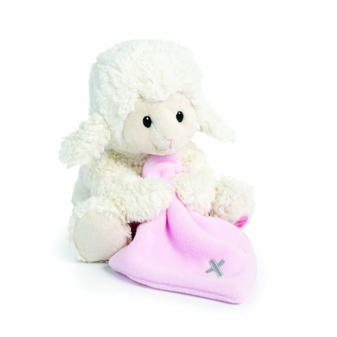 Jesus Loves Me Musical Plush Lamb with Blanket, Pink