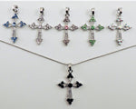 Crystal Cross Necklace Medium
