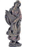 St. Cecilia, Cold-Cast Bronze, 8.5""