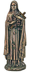 St. Theresa from the Veronese Collection in cold cast bronze, 8""