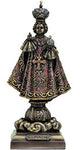 Infant of Prague,lightly hand-painted cold cast bronze,8