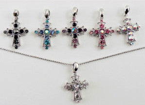 Crystal Cross Necklace Small