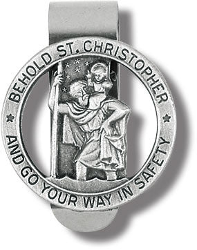 St. Christopher Go Your Way In Safety Visor Clip
