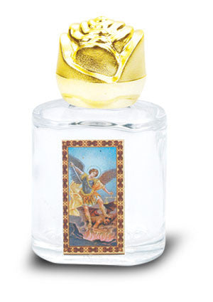 St. Michael Glass Holy Water Bottle 2.5""