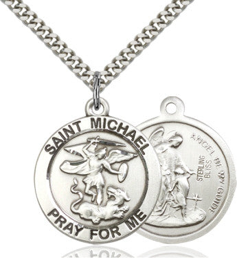St. Michael the Archangel Pendant on a 24 inch chain