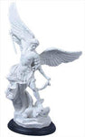 St. Michael, White, Black Base, 15""
