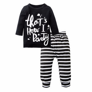2PC Newborn Cotton Baby Boy/Girl Clothing Set