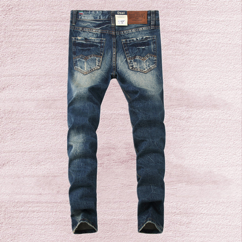 Men's Ripped Jeans Blue Slim Fit