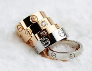 Love Ring with Crystals