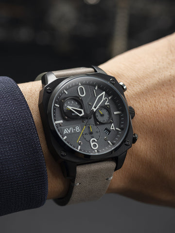 SEA GRAY RETROGRADE CHRONOGRAPH 1