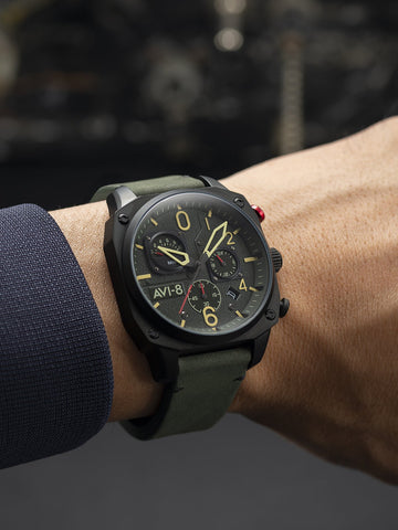 DEEP GREEN BLACK RETROGRADE CHRONOGRAPH 1