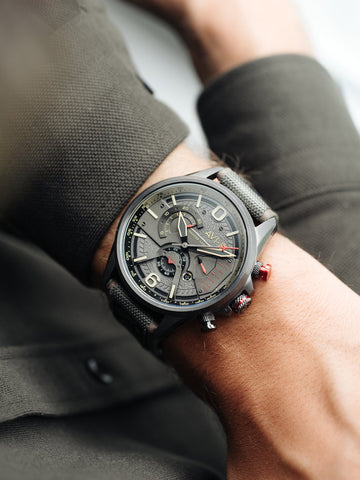 Gunmetal Dark Earth DUAL RETROGRADE CHRONOGRAPH 1
