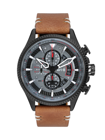 SCARLET BLACK BROWN AVON CHRONOGRAPH 1