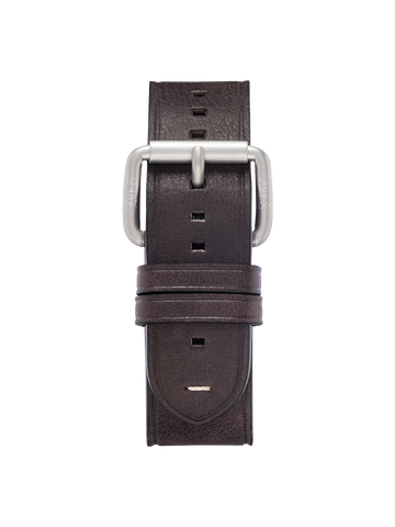 DARK BROWN ROLLER BUCKLE STRAPS 1