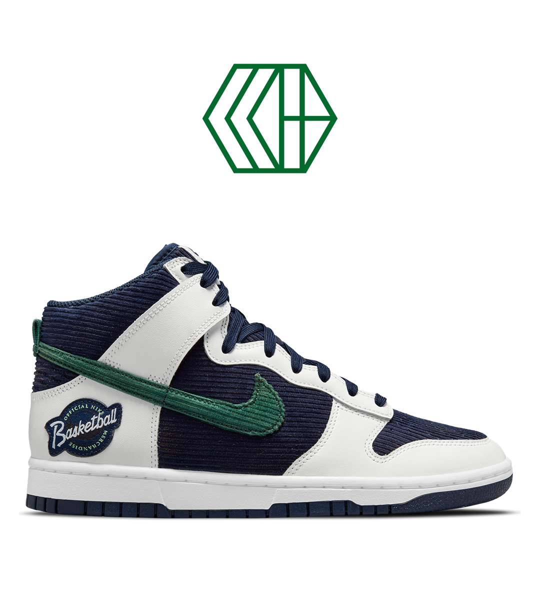 Nike Dunk High EMB 'College Navy/Noble Green'