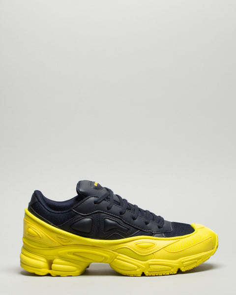 Ozweego Bright Yellow/Night Navy Adidas x Raf Simons Mens Sneakers Seattle