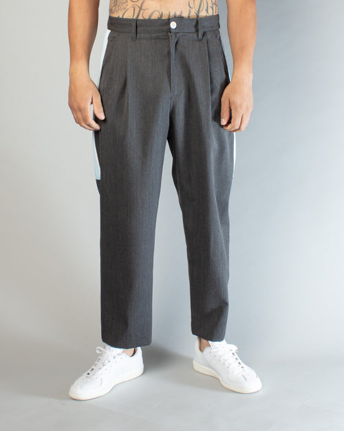 JUV4504-2 Trousers Charcoal/Light Blue 1