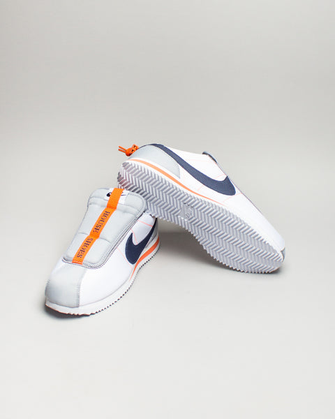 Cortez Kenny IV White/Thunder Blue/Wolf Grey/Turf Orange Nike Mens Sneakers Seattle
