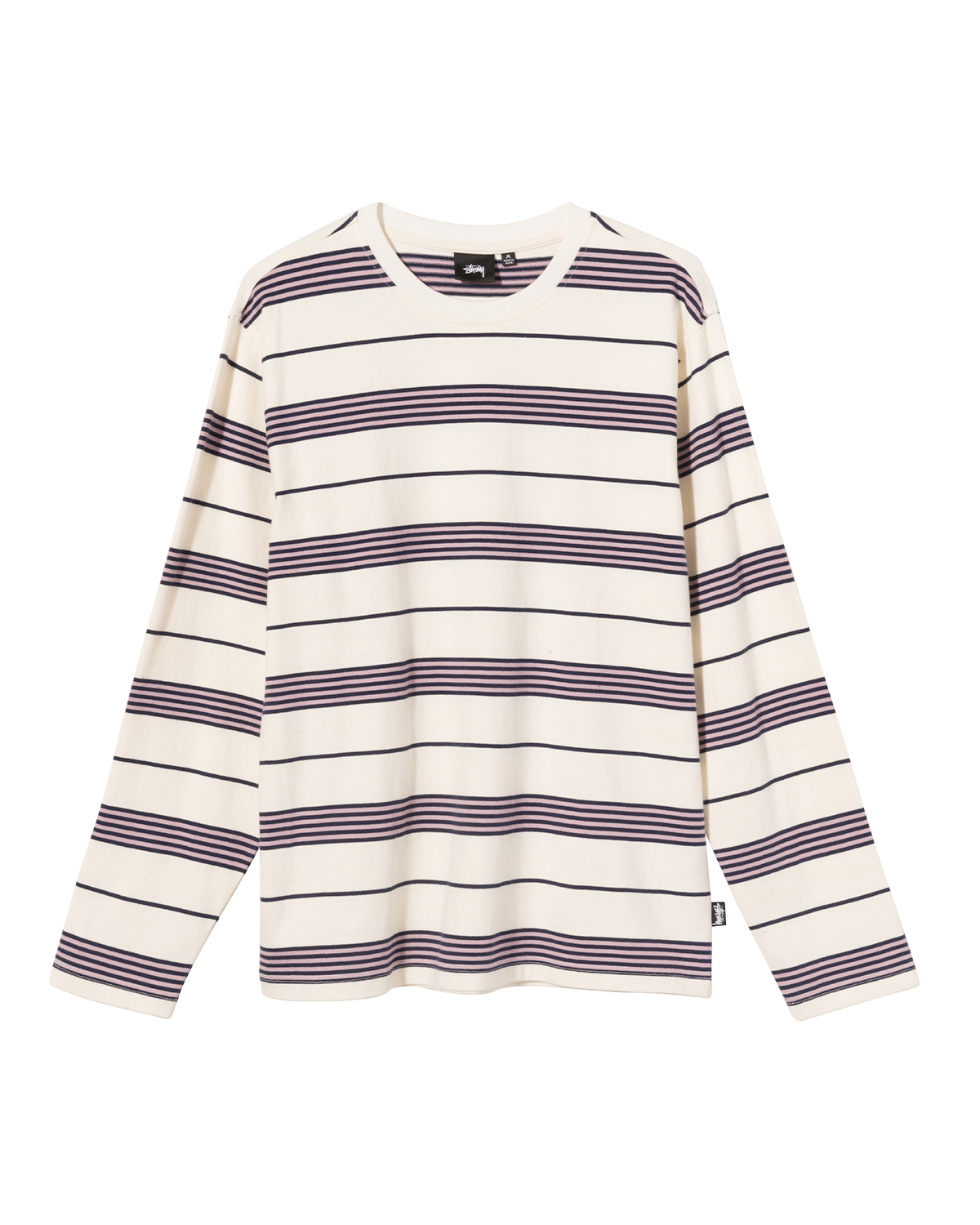 Asher Stripe LS Crew Natural