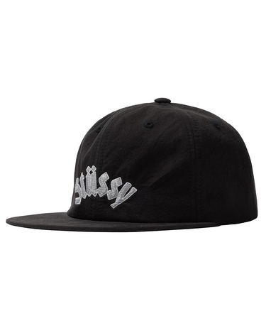 Washed Collegiate Strapback Black 1