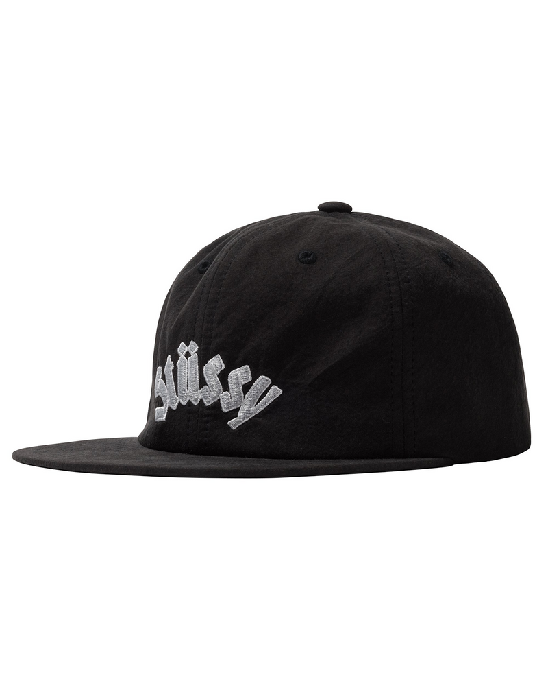 Washed Collegiate Strapback Black