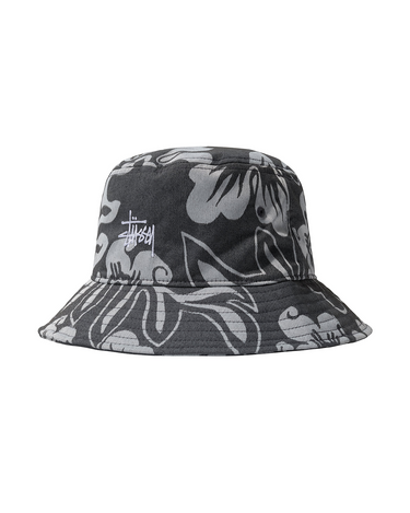 Nylon Hawaiian Bucket Hat White 1