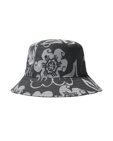 Nylon Hawaiian Bucket Hat White 2