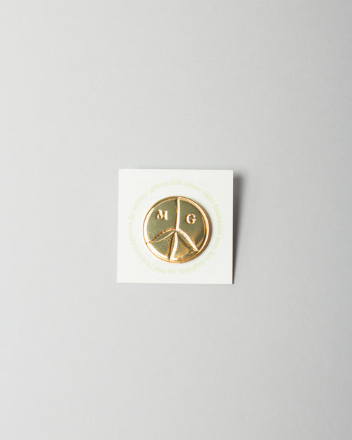 Peace Logo Pin Gold Tone 1