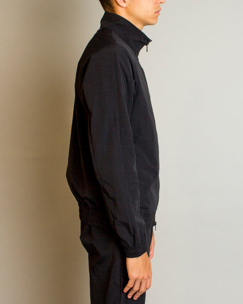 Woven Classic Nylon Warm Up Jacket Black 2