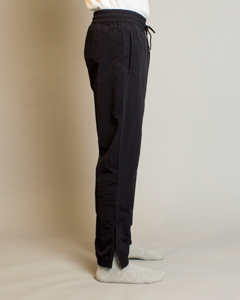 Woven Classic Nylon Warm Up Pant Black