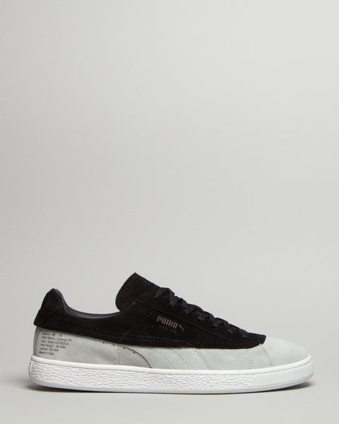 Suede Classic Black/Grey Puma Mens Sneakers Seattle