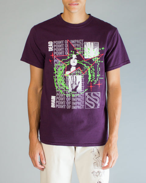 Point of Impact Tee Purple Brain Dead Mens Sneakers Seattle
