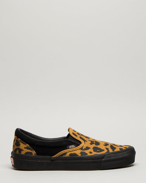 OG Classic Slip-On Leopard/Black Vans Vault Mens Sneakers Seattle