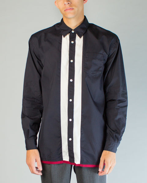 JUV4402-1 Shirt Navy/White/Red