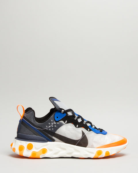 React Element 87 Wolf Grey/Black/Thunder Blue Nike Mens Sneakers Seattle