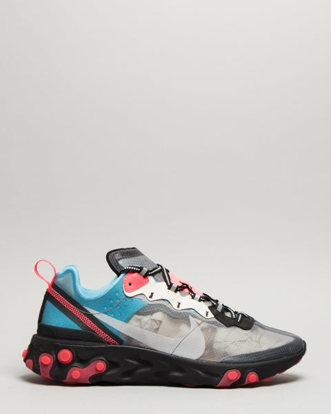 React Element 87 Black/Cool Grey/Blue Chill/Solar Red Nike Mens Sneakers Seattle