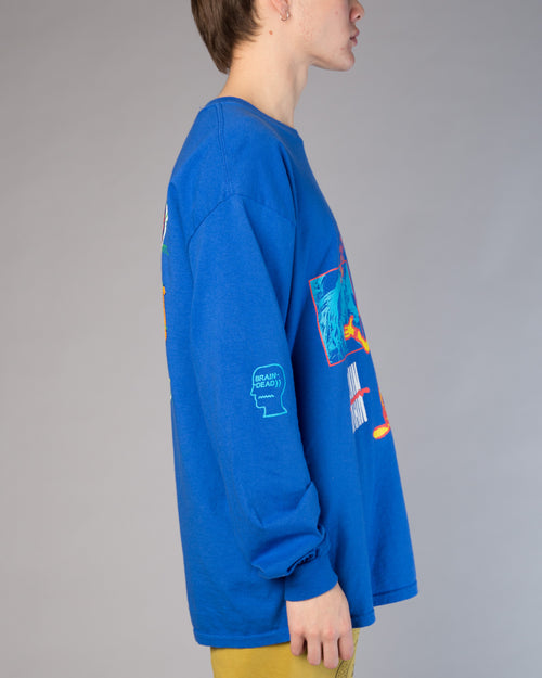 Human Being LS Tee Royal Blue 2
