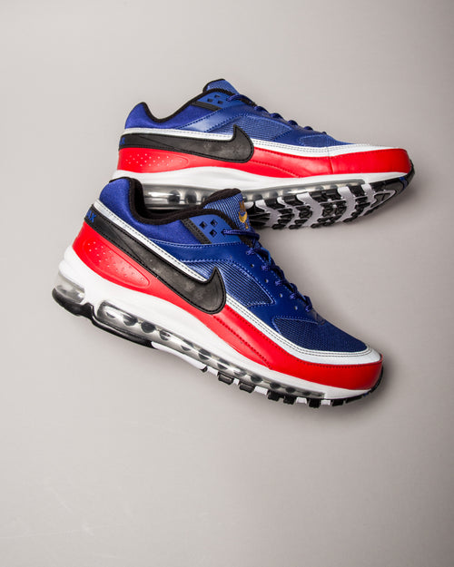 Air Max 97/BW Deep Royal Blue/Black/University Red 2