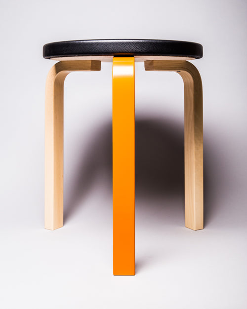 Artek Stool 60 Birch/Orange 1